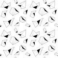 Seamless Pattern with Polygonal Wild Animal.
