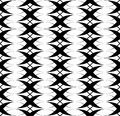 Black and white seamless pattern twist line style, abstract back Royalty Free Stock Photo