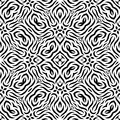 Black and white Seamless Repeating Vector Pattern Royalty Free Stock Photo