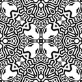 Black and white Seamless Repeating Vector Pattern