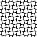 Black and white seamless square grid pattern - vector background design from angular squares