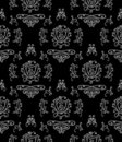 Black & white seamless wallpaper Stock Photography