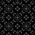 Black and white seamless wallpaper pattern Stock Photography