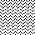 Black and white seamless zigzag retro Royalty Free Stock Image