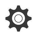 black and white settings icon, graphic Royalty Free Stock Photo