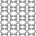 Black and white simple shape geometric seamless pattern, vector
