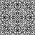 Black and white simple star shape geometric seamless pattern, vector.