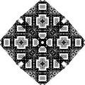 Black and white simple star shape geometric seamless pattern, vector Black and white simple star shape geometric seamless pattern,