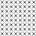 Black and white simple star shape geometric seamless pattern, vector Royalty Free Stock Photo