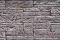 Black and white slabs imitation stone on wall closeup Stock Image