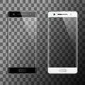 Black and white smartphones