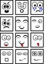 Black and white smileys Royalty Free Stock Photo
