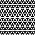Black & white smooth geometric figures. Vector