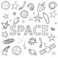 Vector set of space objects