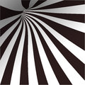 Black and white spiral tunnel. Vector Stock Photos