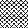 Black and white squama pattern Royalty Free Stock Photos