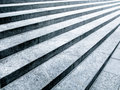 Black and white stone steps Royalty Free Stock Image