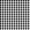 Black & White Tablecloth Seamless Pattern Stock Photos