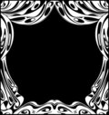 Black And White Theatrical Curtains Stock Image