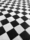 Black and white tile floor Royalty Free Stock Photo