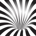 Black and white tunnel vector background Royalty Free Stock Images
