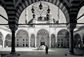 Black and white turkish mosque with tradtional architecture in istanbul turkey old center near grand bazaar Royalty Free Stock Photos