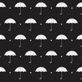 Black and white umbrella pattern illustration Royalty Free Stock Photos