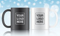 Black and white vector coffee mugs