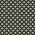 Black & white vector french fleur de lis pattern