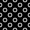 Black and white vector geometric seamless pattern, monochrome r