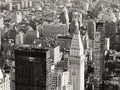 Black and white view of skyscrapers at midtown New York City Royalty Free Stock Photo