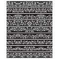 Black white vintage elements for vector brushes creating. Borders templates kit for frames design and page decorations