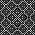 Black and white wallpaper pattern retro pattern Stock Image