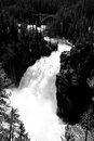 Black and White Waterfall Royalty Free Stock Photo