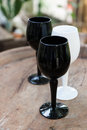 Black and white wine glass Royalty Free Stock Photo