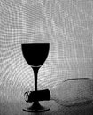 Black and White Wine Glassware Background Design. Royalty Free Stock Photo