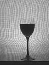 Black and White Wine Glassware Background Design. Royalty Free Stock Images