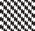 Black and white zig zag vector seamless pattern can be used as background Stock Photo
