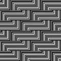 Black and white zigzag pattern lines Royalty Free Stock Photo