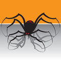 Black widow spider looking menacing Stock Photo