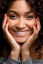 Black Woman Smiling Royalty Free Stock Photos