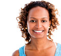 Black woman smiling happy isolated over a white background Royalty Free Stock Image