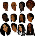 Black Women Faces Stock Photo