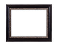 Black wooden picture frame Royalty Free Stock Photo