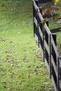 Black wooden rail fence Royalty Free Stock Photo