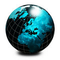 Black world globe Royalty Free Stock Image