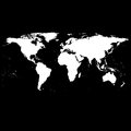 Black World Map Vector Royalty Free Stock Photo