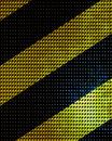 Black and yellow hazard lines with grunge effects Stock Photo