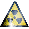 Black and yellow nuclear sign isolated on a white background Royalty Free Stock Image