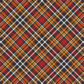 Black, yellow, red and white plaid background Royalty Free Stock Photo